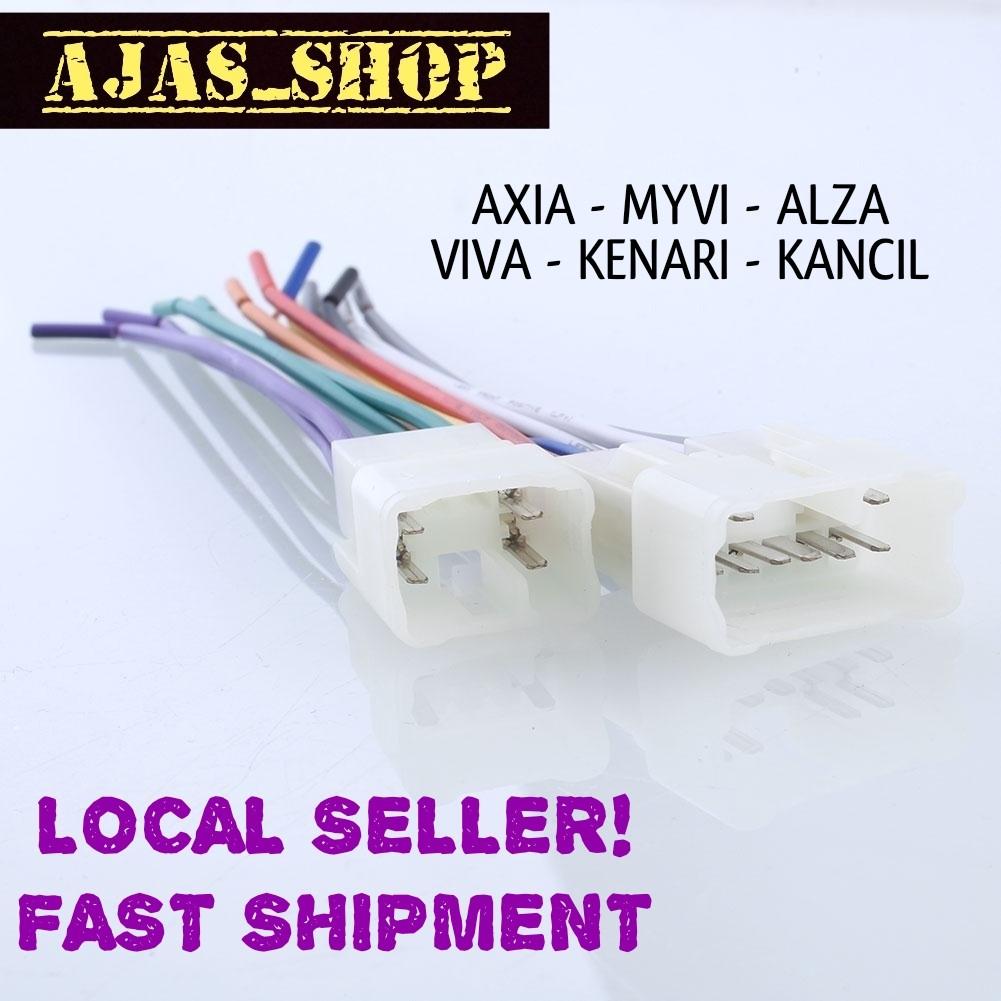 Amazing Perodua Axia Myvi Alza Viva Kenari Kancil Plug And Play Socket Wiring Cloud Planhouseofspiritnl