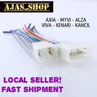 🇲🇾Perodua Axia Myvi Alza Viva Kenari Kancil Plug And Play Socket on