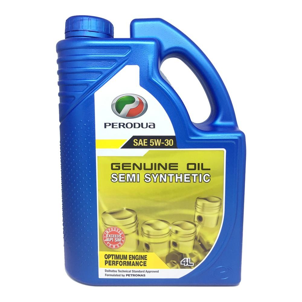 Original perodua 5w30 semi synthetic engine oil 4l for Semi synthetic motor oil