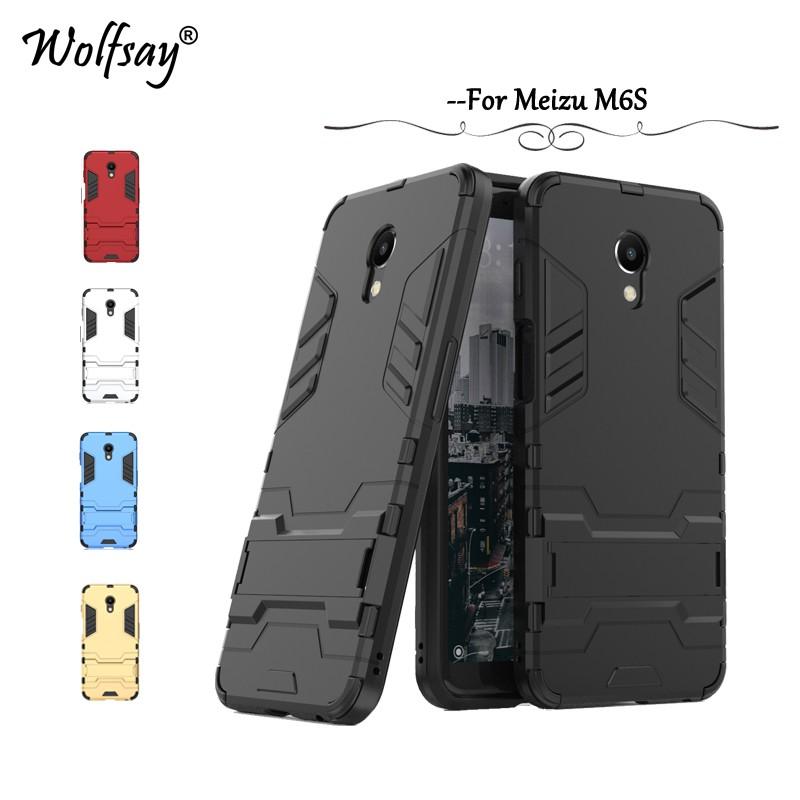 Meizu M6S Phone Case & Hard Plastic Hidden bracket Cover