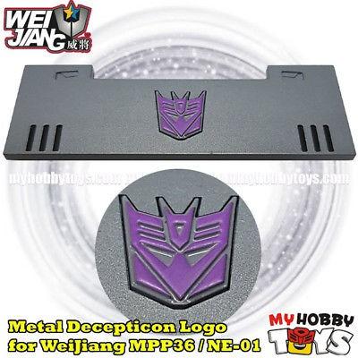 Metal Decepticon Logo Symbol for Weijiang MPP36 NE-01 Oversized Megatron