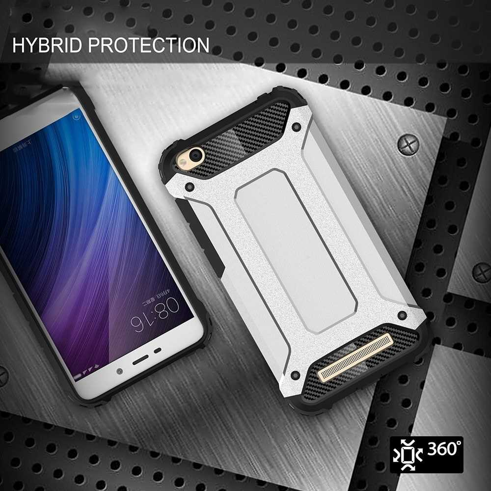 For Xiaomi Redmi 4A Case Slim Fit Dual Layer Hard Back Cover Bumper Protective Shock-Absorption & Skid-proof Anti-Scrat