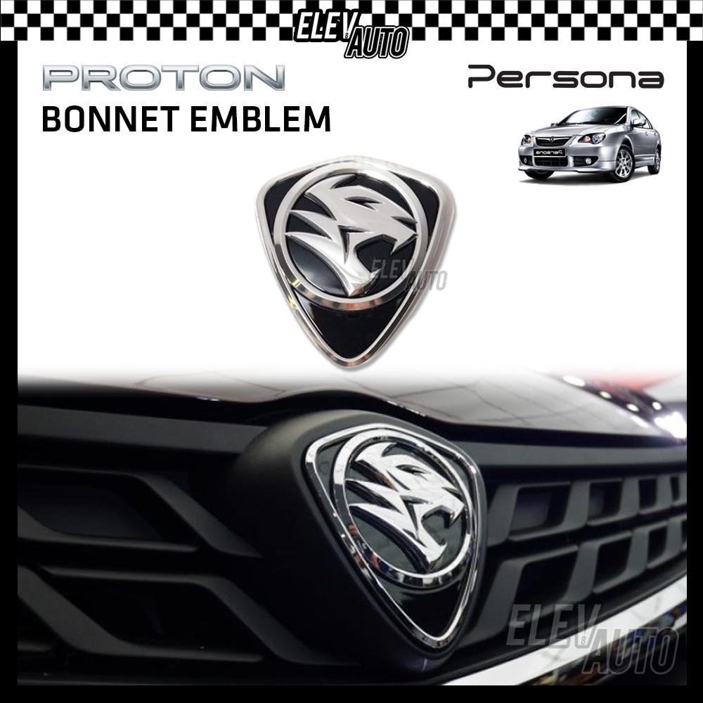 PROTON New Design Chrome Logo Emblem Front & Rear Persona 2008-2015