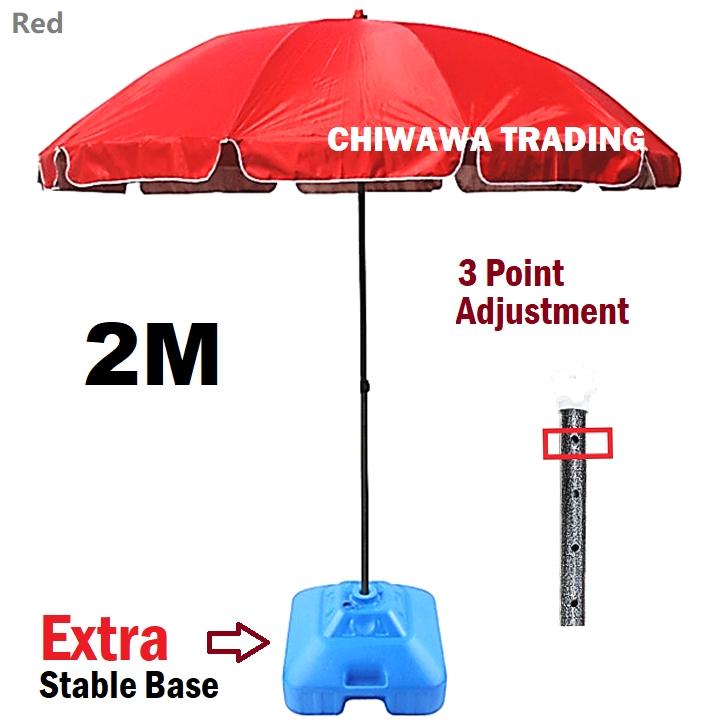 STRONG BASE 2m 7ft Adjustable Umbrella UV Sun Shade Canopy Outdoor Night Market Stall Payung Pasar Malam Kanopi Khemah