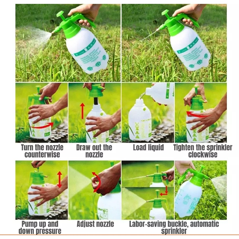 2 Litre Pressure Sprayer Durable and High Quality Hand Water Pump Pam Racun ( Random Colour )