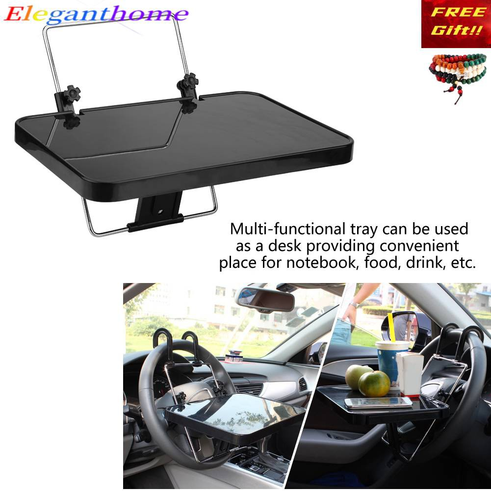 Ele] Steel& ABS Foldable Auto Car Laptop Food Steering Wheel Tray Holder  Desk Computer Table | Shopee Malaysia