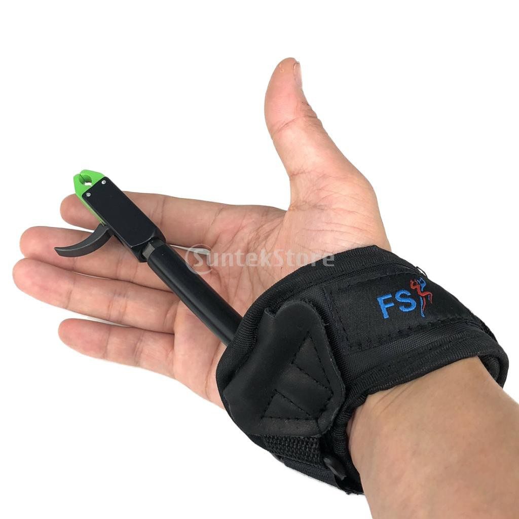 Release Aids Archery Accessories Adjustable Wrist Cow Leather For Compound Bow
