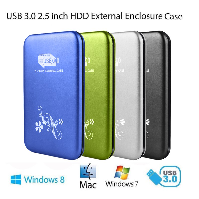 "USB 3.0 2.5"" SATA External Case Box HDD Hard Disk Drive Aluminum Enclosure #2537"