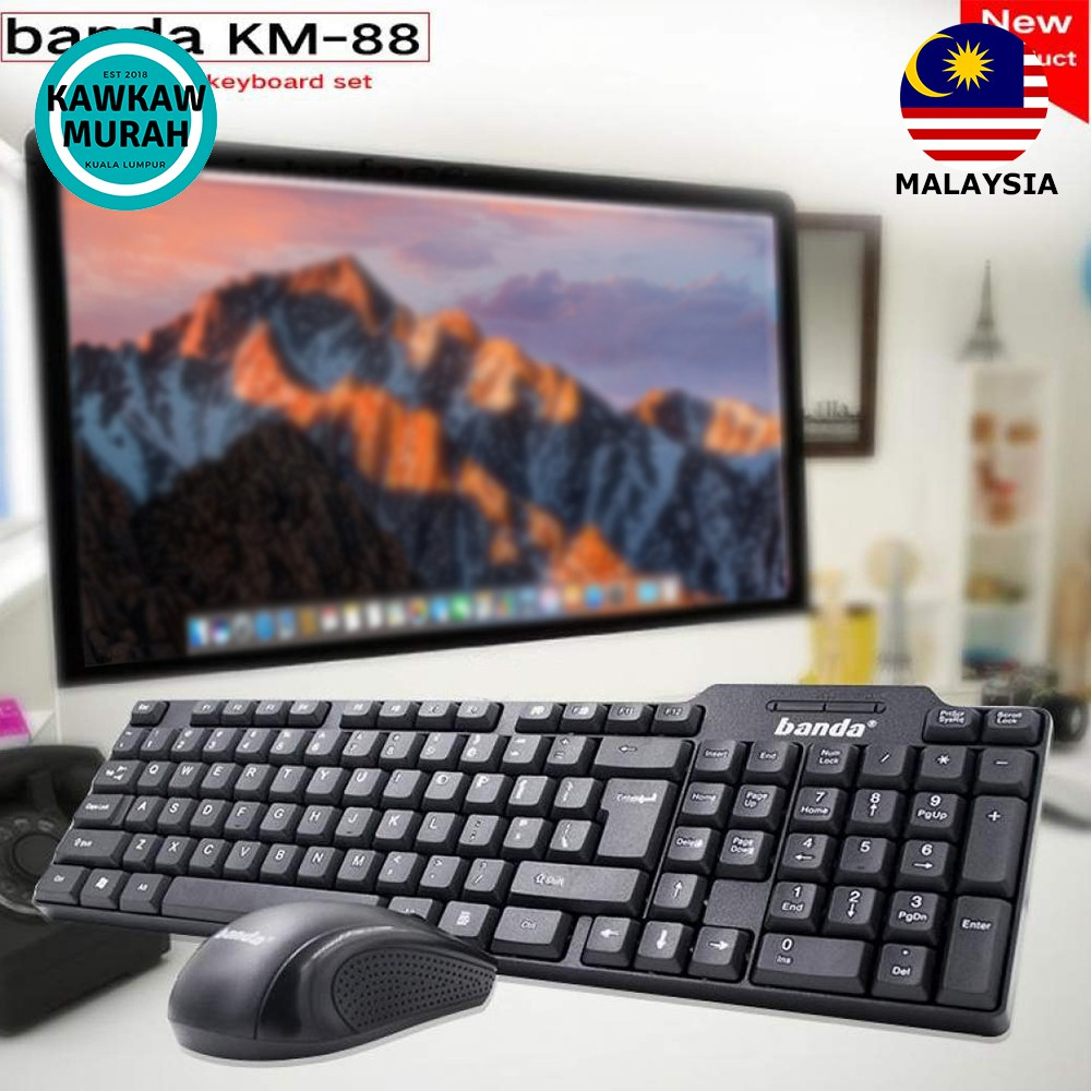 *New* Banda KM-88 Wired Keyboard & Mouse Combo