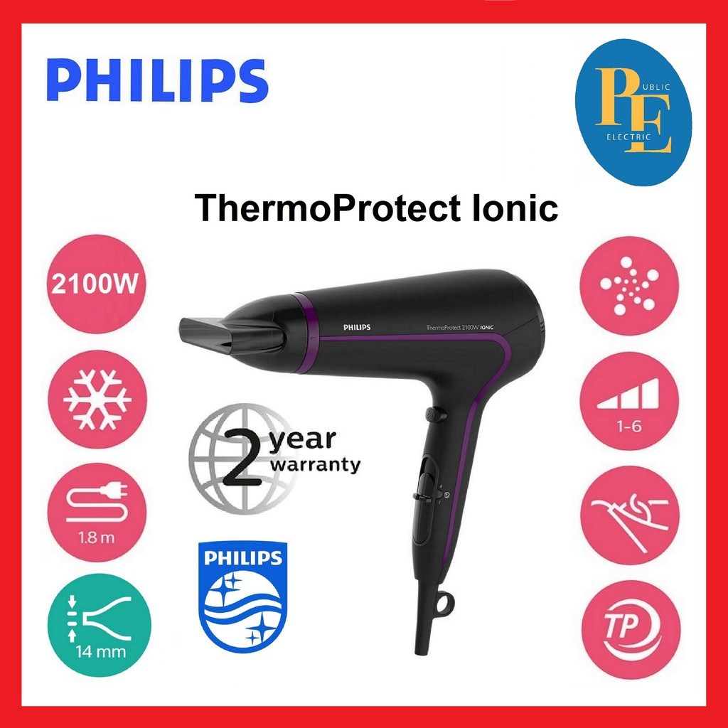 Philips ThermoProtect Hair Dryer 2100W - HP8234