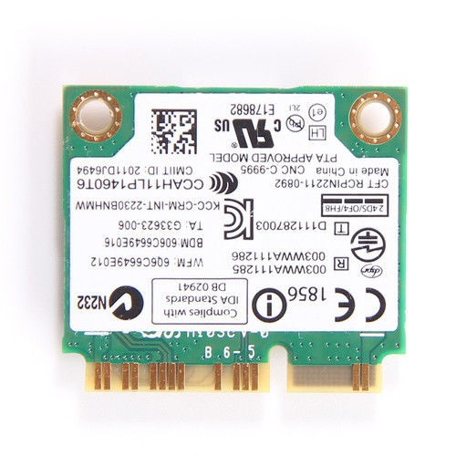 Intel 2230 300Mbps Mini PCI-E WIFI Wireless Card BT 4.0 For Lenovo FRU 04W3765