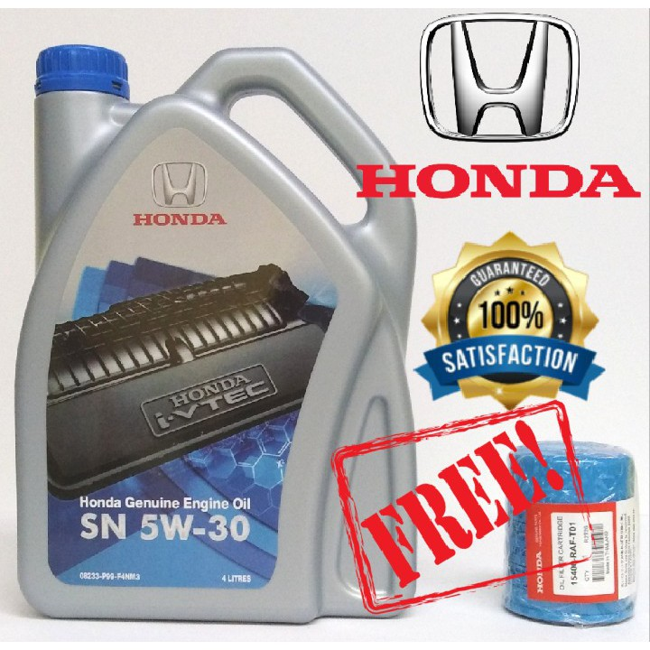 HONDA Genuine Semi Synthetic 5W30 ENGINE OIL 4L + (FOC) 1PCS HONDA OIL  FILTER