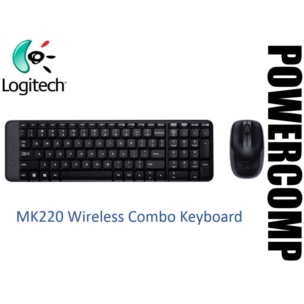 Logitech Mk220 Wireless Combo Keyboard Shopee Malaysia Mouse Original