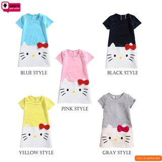 29a88f840 Hot Sell Girls Dress Hello Kitty Christmas Dress A-Line Cartoon Princess  Dress | Shopee Malaysia