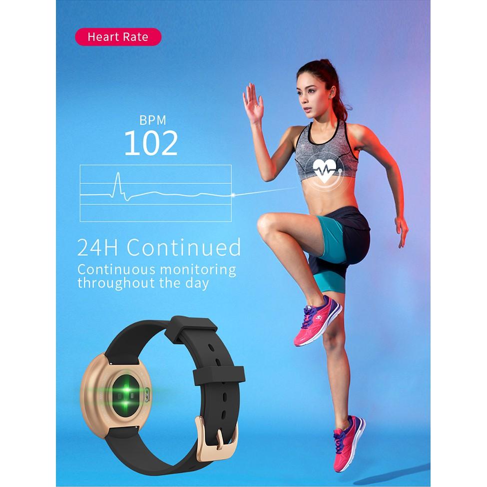 [LOCAL SELLER] Bozlun B36 Women's Period Reminder Heart Rate Waterproof Calorie Step Smart Watch