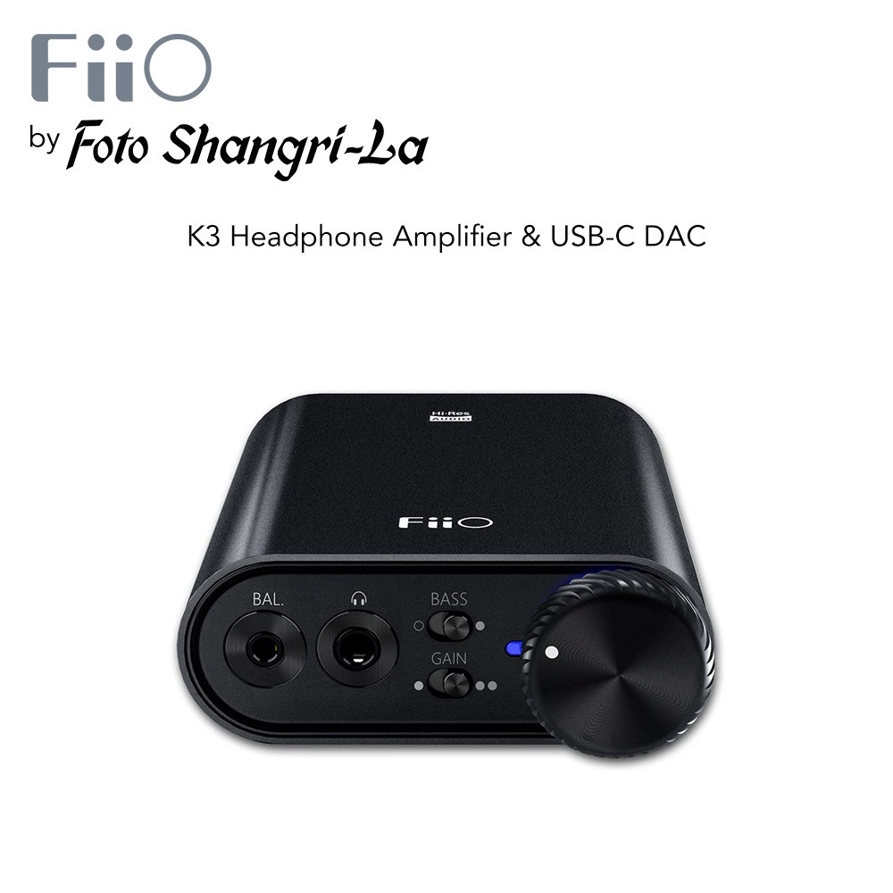 FiiO K3 Pocket-sized Power Flexibility Headphone Amplifier & USB-C DAC