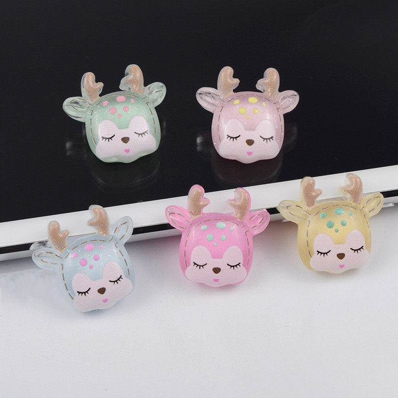 Slime charms 10PCS Mini Slime Charms Animals Cartoon Cute Duck Rabbit Cow Slime Accessories Making Supplies For Crafts 5
