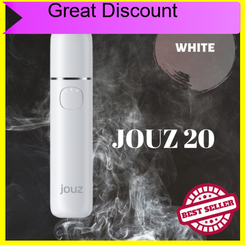 Great Discount JOUZ 20 - HEAT NOT BURN 20 Continuous Stick With Single Charge Free GIft Cleaning Device (White)
