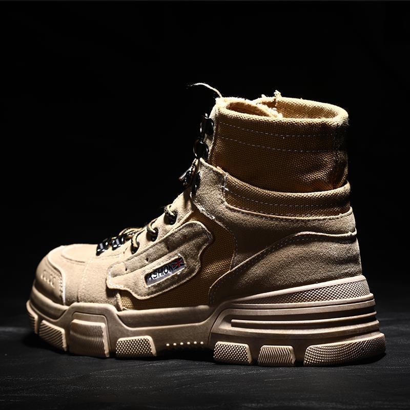 ec0031bd9c6 ✌ Spot ✌﹊Spring wind Martin boots male tide of England joker in short help  men high tooling men's shoes couples