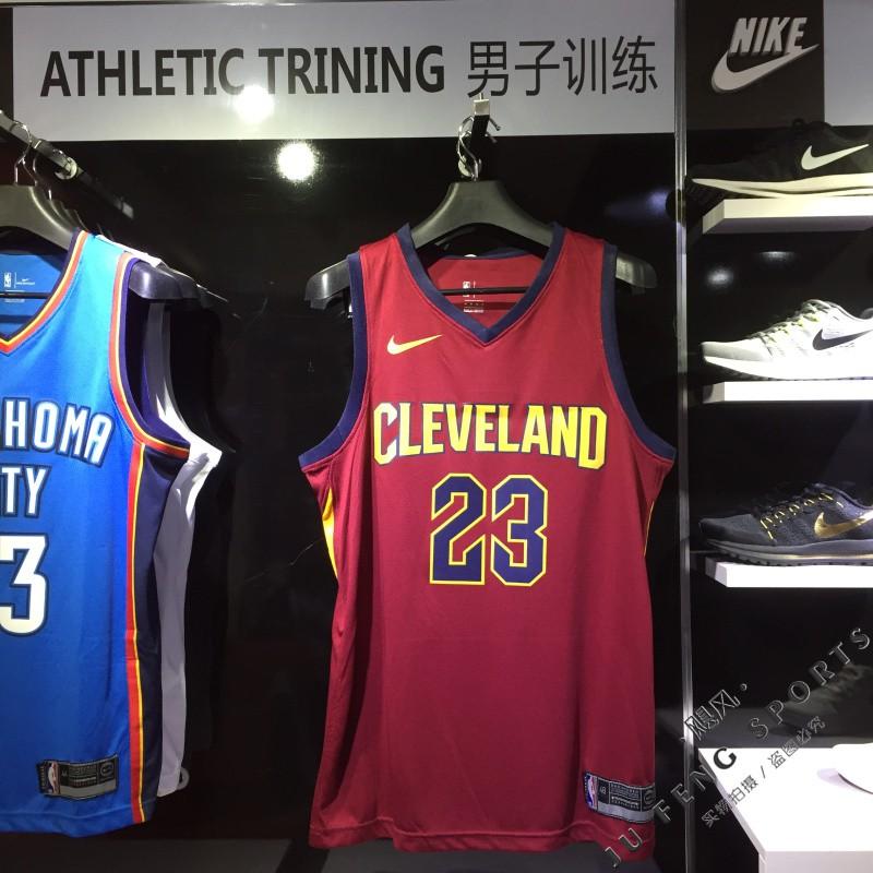 HKmarket  2018 Original Nike NBA Cleveland Cavaliers LeBron James  23  black basketball jersey S-XXL  b93a85a21
