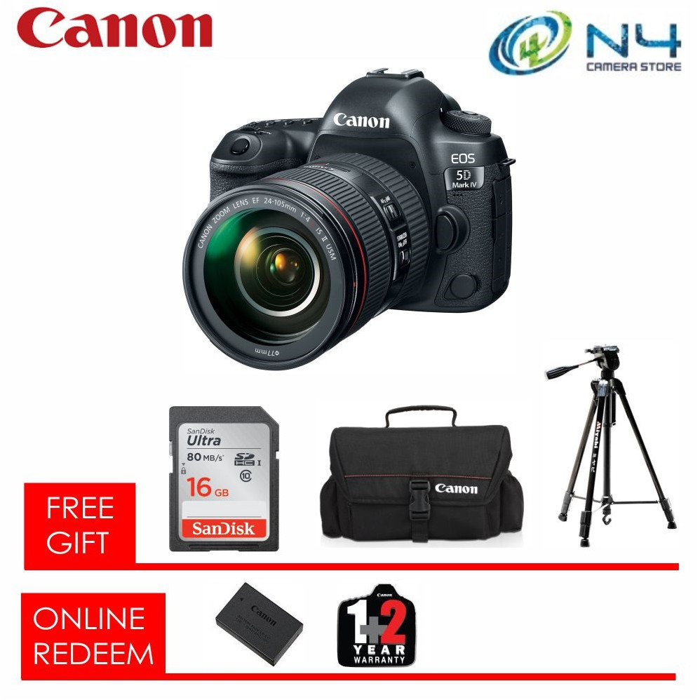 Canon Eos 77d Dslr Camera With 18 55mm Lens 16gb Bag 1200d Kit Iii Non Is Tripod Shopee Malaysia