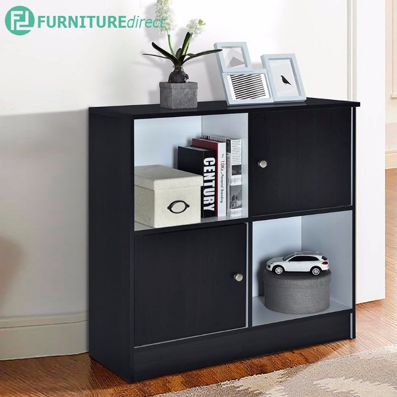 BODEN 4 CUBE BOOKCASE WITH DOOR A07