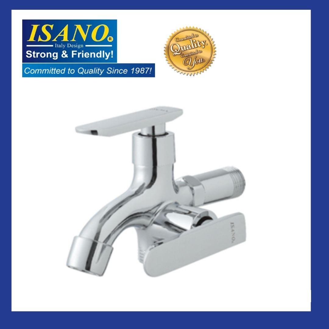 ISANO 1200TW Basin Wall Twin Water Tap Kitchen Bathroom Washroom Toilet Sink Bib Air Kepala Paip Faucet