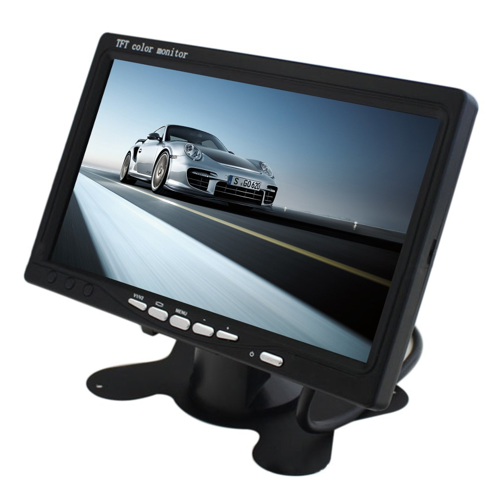 7 Inch Lcd Monitor 800x480 Tft Color Screen Two Video Input One Wireless Pillow Wiring Diagram Audio Shopee Malaysia