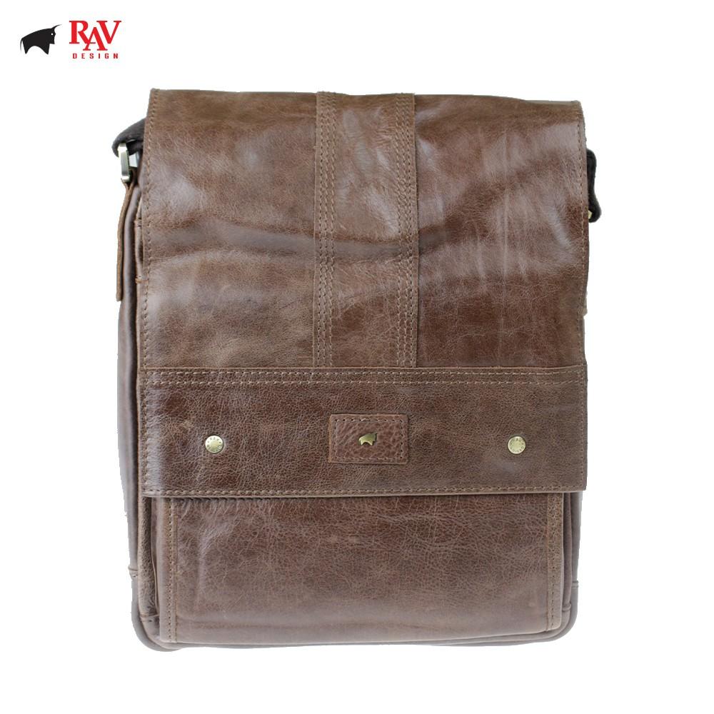 RAV DESIGN 100% Genuine Cow Leather Cross body Crossbody Bag Sling Bag Brown  YRC036 Series