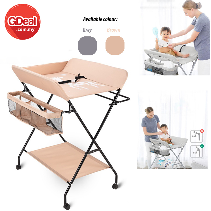 GDeal Multifunctional 0-3 Year Old Baby Care Folding Type Changing Diaper Nursing Table