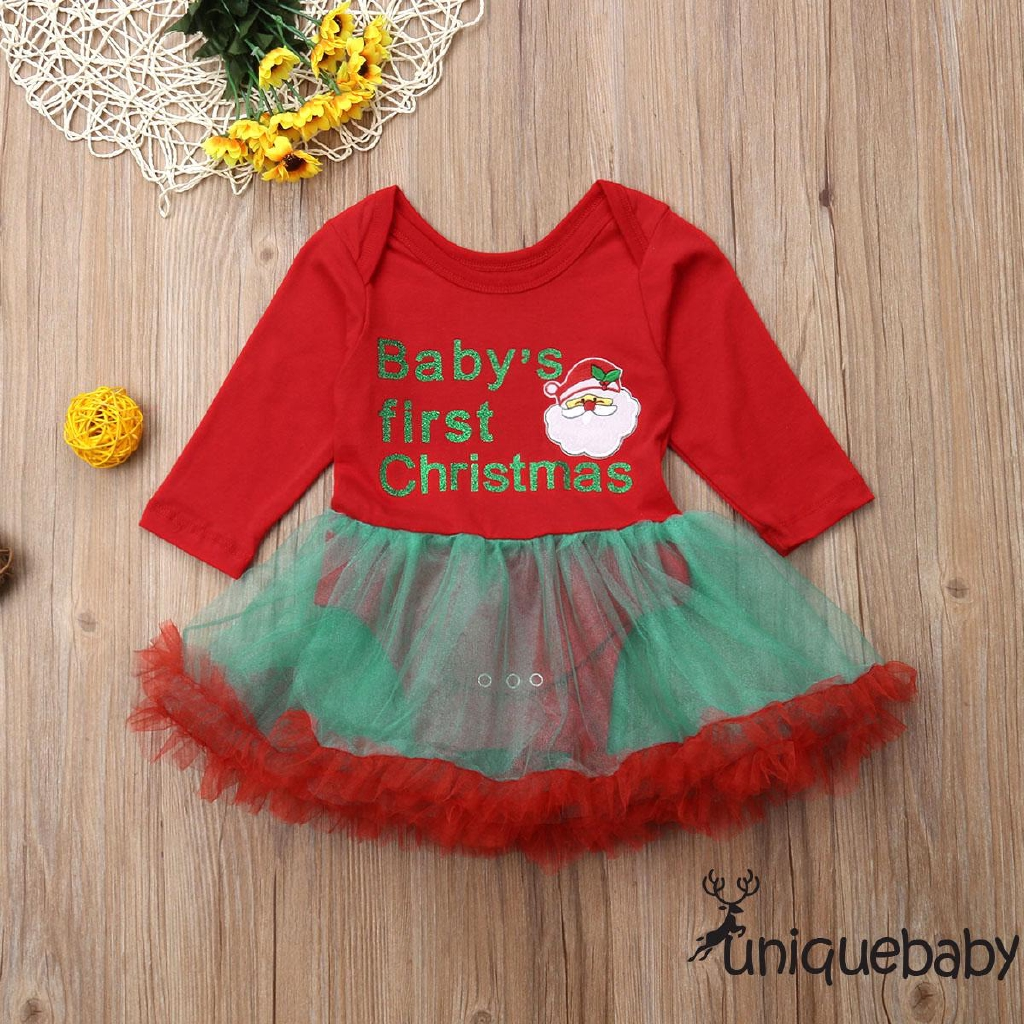 Christmas Tutu Outfits.Uni Baby S First Christmas Baby Girls Xmas Tutu Romper Dress Outfits Santa