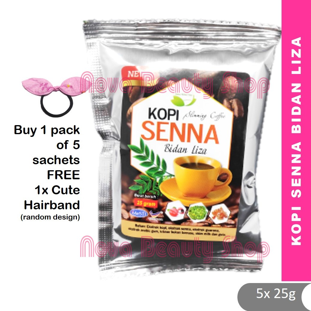 💗 Kopi Senna Bidan Liza 💗 5 sachets kopi buang lemak langsing ramping senna coffee detox coffee melawaskan digestion