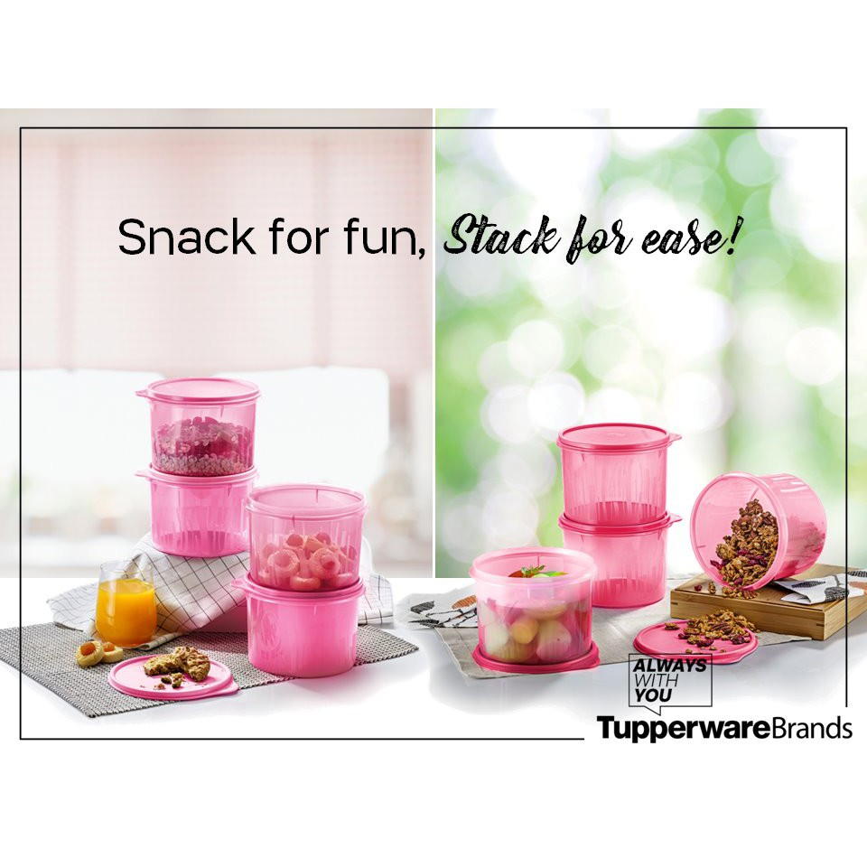 tupperware snack n stack canister