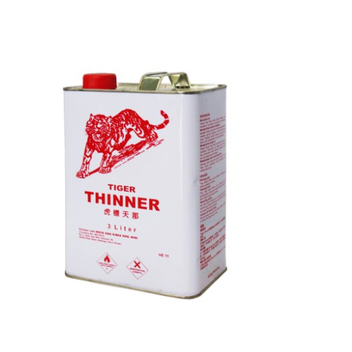Tiger Brand Paint Thinner-3L(Grade 1 Quality).