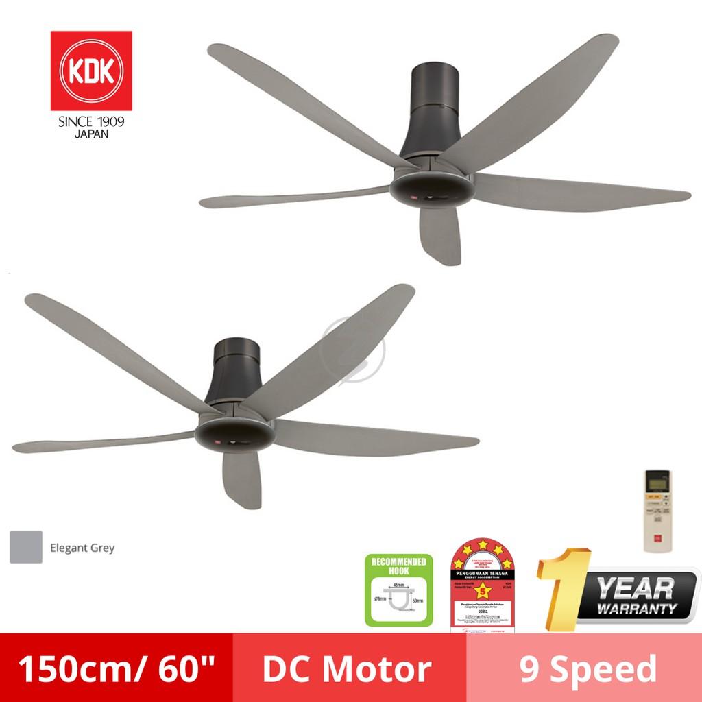 "KDK Sensa 5 60"" inch 5 Blades Remote Control Ceiling Fan | K15Z5-REY / K15Z5-QEY Kipas Siling 风扇"
