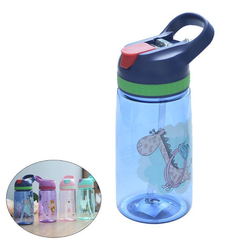Kids Baby Straw Water Bottle 400ml Travel Outoodr Children Drink Storage Healthy