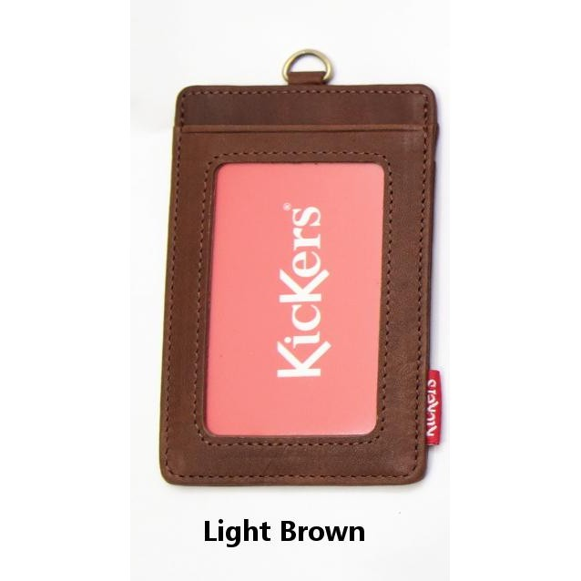 KicKers ORI Leather ID T&G Credit Card Door Access Name Card Holder KIC 88068 Lanyard company tag identification card