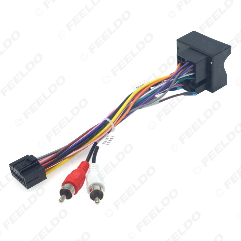 Car Audio Dvd Player 16pin Android Power Cable Adapter With Fm Plug For Ford Focus 06 11 Radio Wiring Harness Shopee Malaysia
