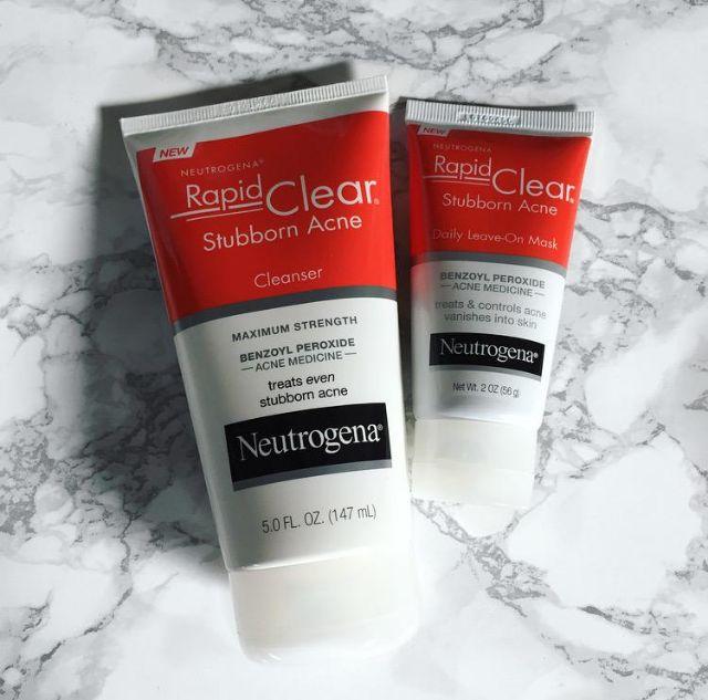 Neutrogena Rapid Clear Stubborn Acne Mask 2 5 Benzoyl Peroxide