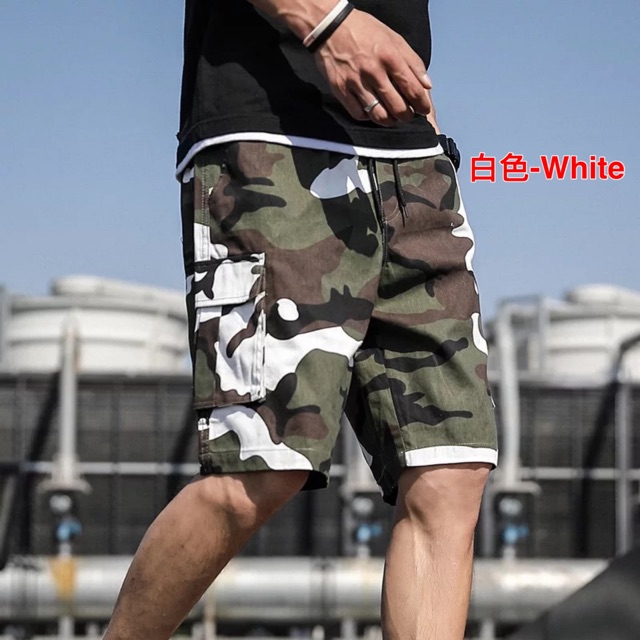 [M~7XL]Men's Clothings casual five-point camouflage shorts 男款休闲五分迷彩短裤