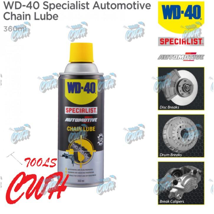 WD-40 Specialist Automotive Chain Lube Spray 360ml WD40 Anti Fling Motorbike Motorcycle Chain Lube