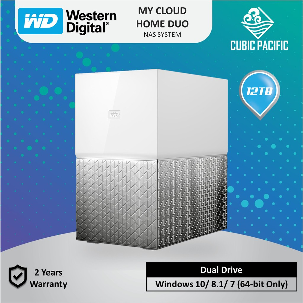 WD MY Cloud Home DUO 12TB Personal Cloud Storage