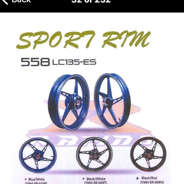 Sport rim Lc135es rapido 558 size 1 6/2 5