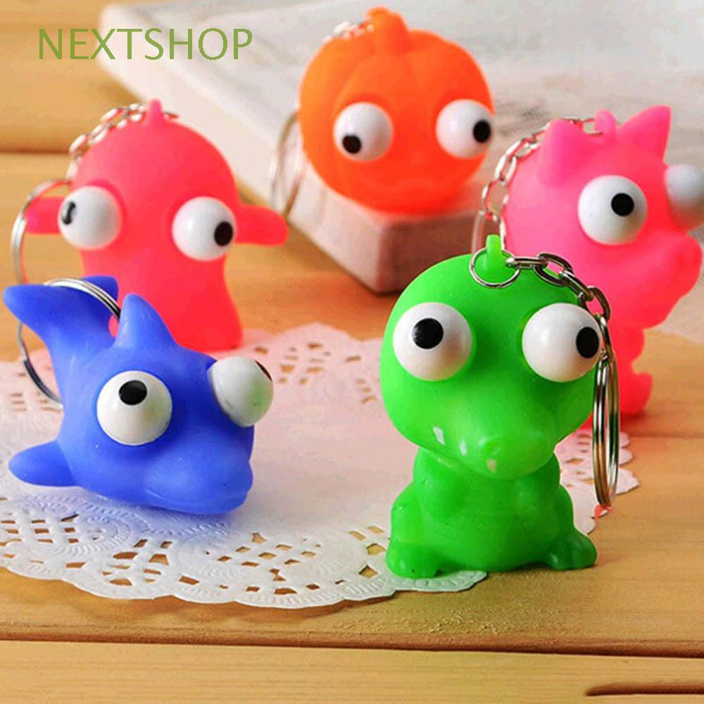 Efficient 1pc Mini Animal Anti Stress Ball For Bag Accessories Fun Antistress Extruding Big Raised Eyes Doll Squeezing Pandent Luggage & Bags