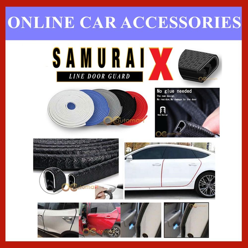 Car Door Edge Guards 16Ft (5METER) Rubber Protector U Shape Flexible Door Trim For Universal Car ( 4Door)