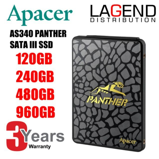 APACER 480GB, 240GB, 120GB AS340 2 5