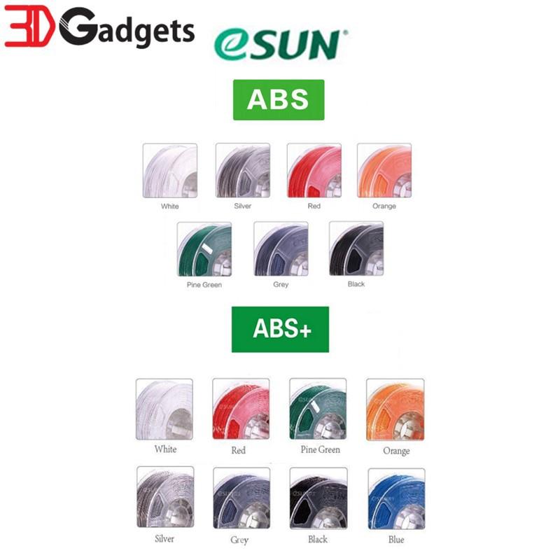 eSUN 3D Printer Filament ABS and ABS+ 1 75mm 1KG Series