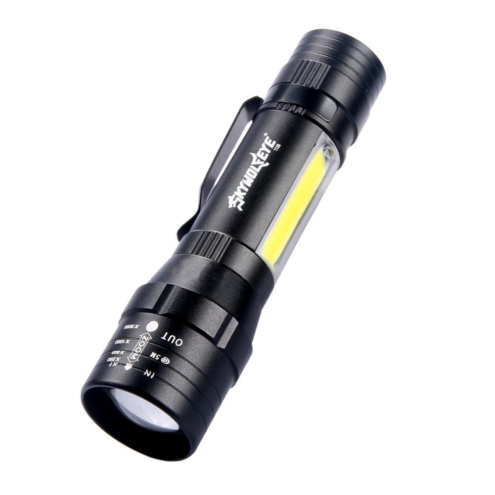 Telescopic Zoom 1000lm USB Waterproof Flashlights T6 LED Hiking Flashlight Neu