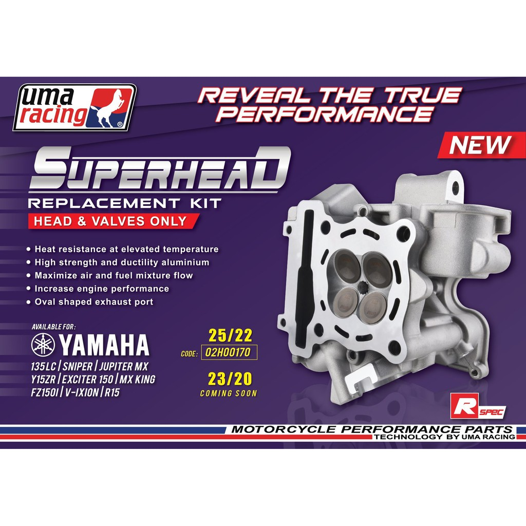 UMA RACING 25/22 SUPER HEAD REPLACEMENT KIT