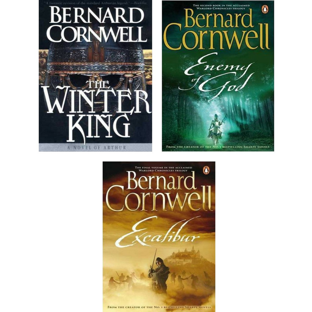 EBOOK The Arthur Books Series by Bernard Cornwell (The Winter King, Enemy  of God & Excalibur) The Warlord Chronicles